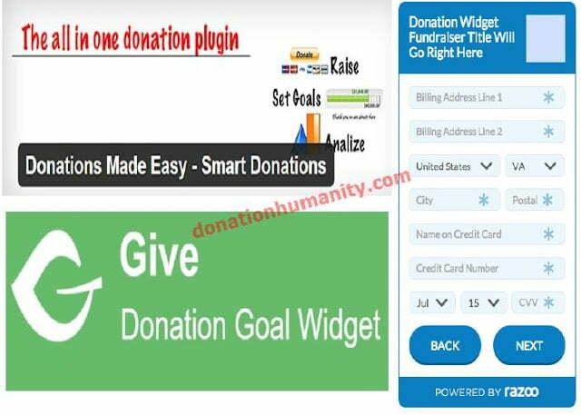 donation widget