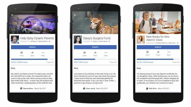 Facebook aide à la collecte de fonds pour la charité