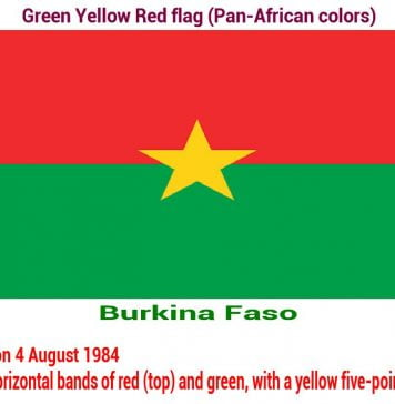 burkina-faso-green-yellow-red-flag-pan-african color