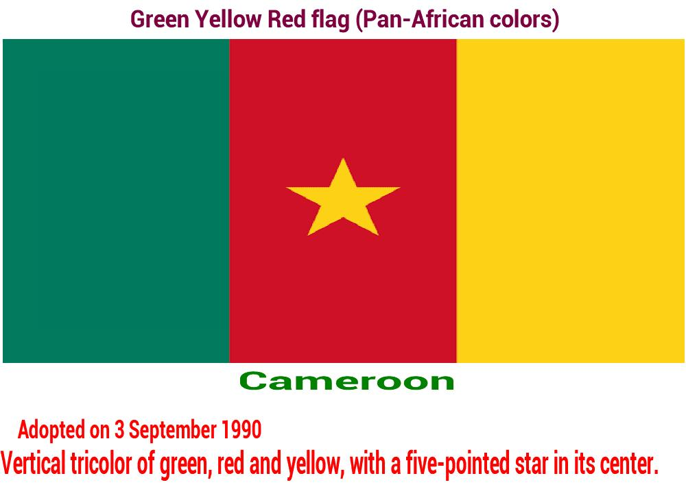 cameroon-green-yellow-red-flag-pan-african color