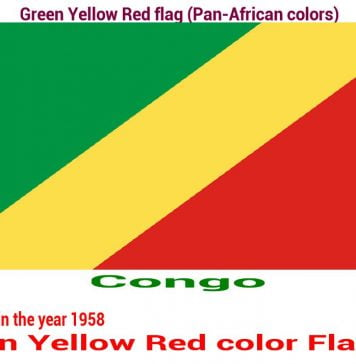 congo-green-yellow-red-flag-pan-african color