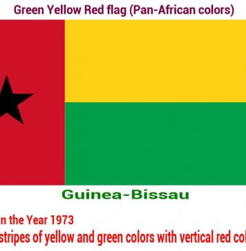 guinea-bissau-green-yellow-red-flag-pan-african color