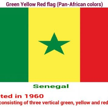 senegal-green-yellow-red-flag-pan-african color