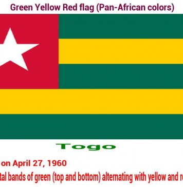 togo-green-yellow-red-flag-pan-african color