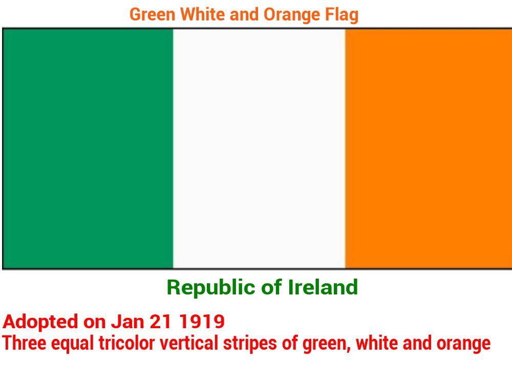 drapeau de la république d'irlande