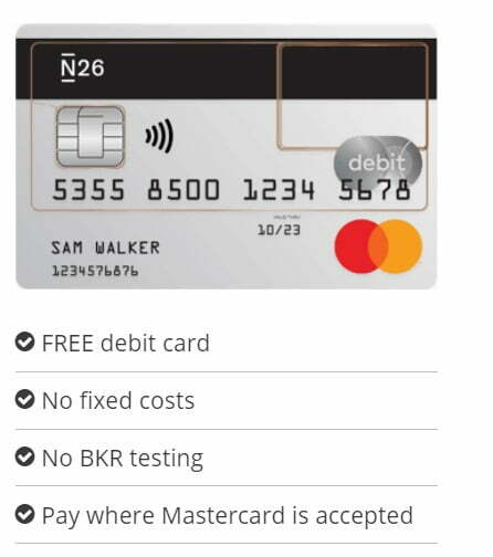 N26 review: Get free debit Mastercard with a smart mobile bank account ( Rate, Cost, IBAN Usage Pros and Cons )