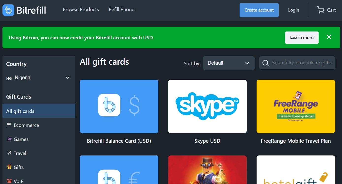 Bitrefill Review: Buying gift cards using cryptocurrencies