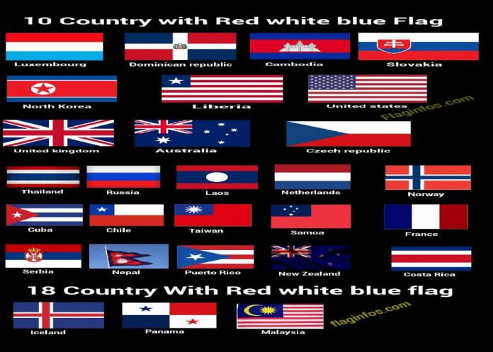 all-country-with-red-white-blue-flag