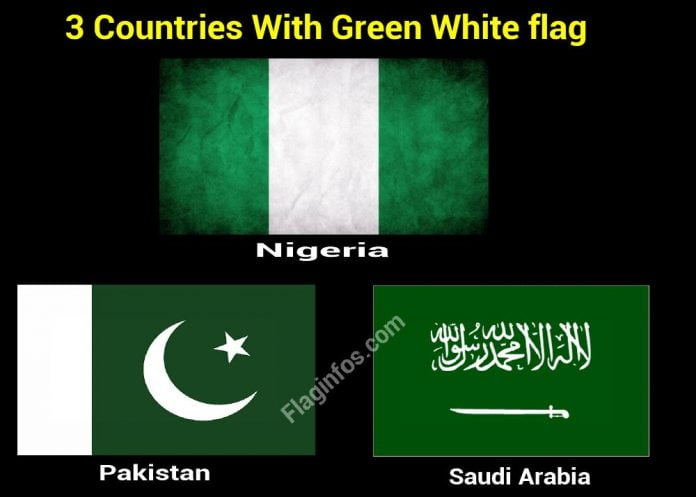country with green and white flags