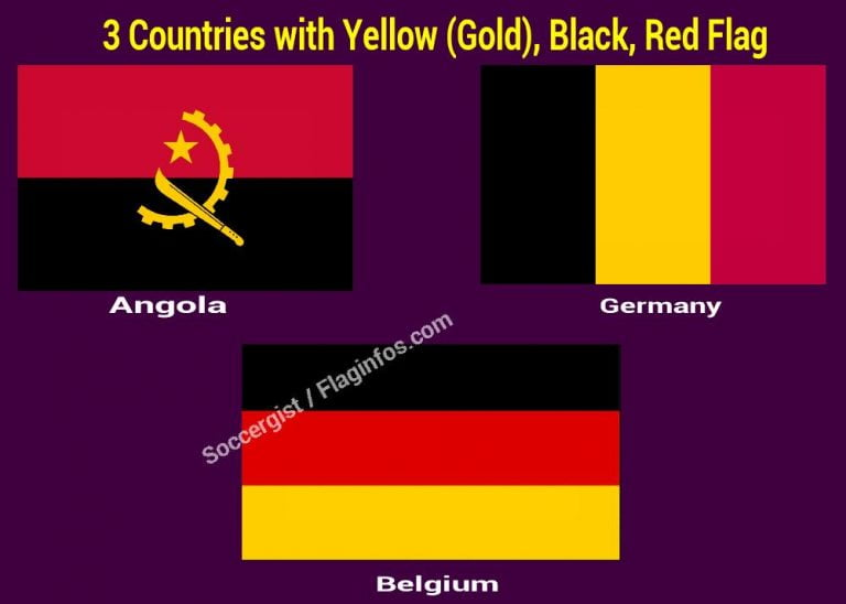 Yellow (Gold), Black, Red Flag (Countries, symbolize, Meaning and Fact)
