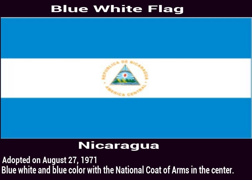 Nicaragua-blue-white-blue-flag