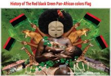 History of The Red black Green Pan-African colors flag
