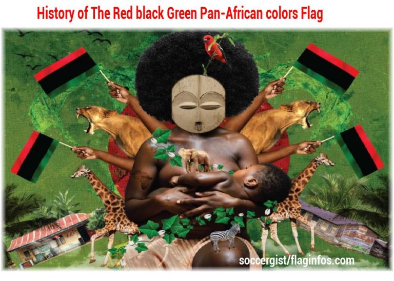 History of The Red black Green Pan-African colors flag (Meaning, Usage, Variants and Marcus Garvey)