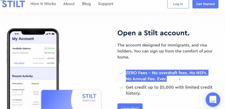 Get a Stilt FREE Master Card and loan in USA without Credit Score & SSN